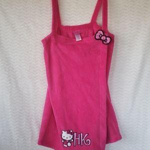 Girls pink hello kitty bath wrap